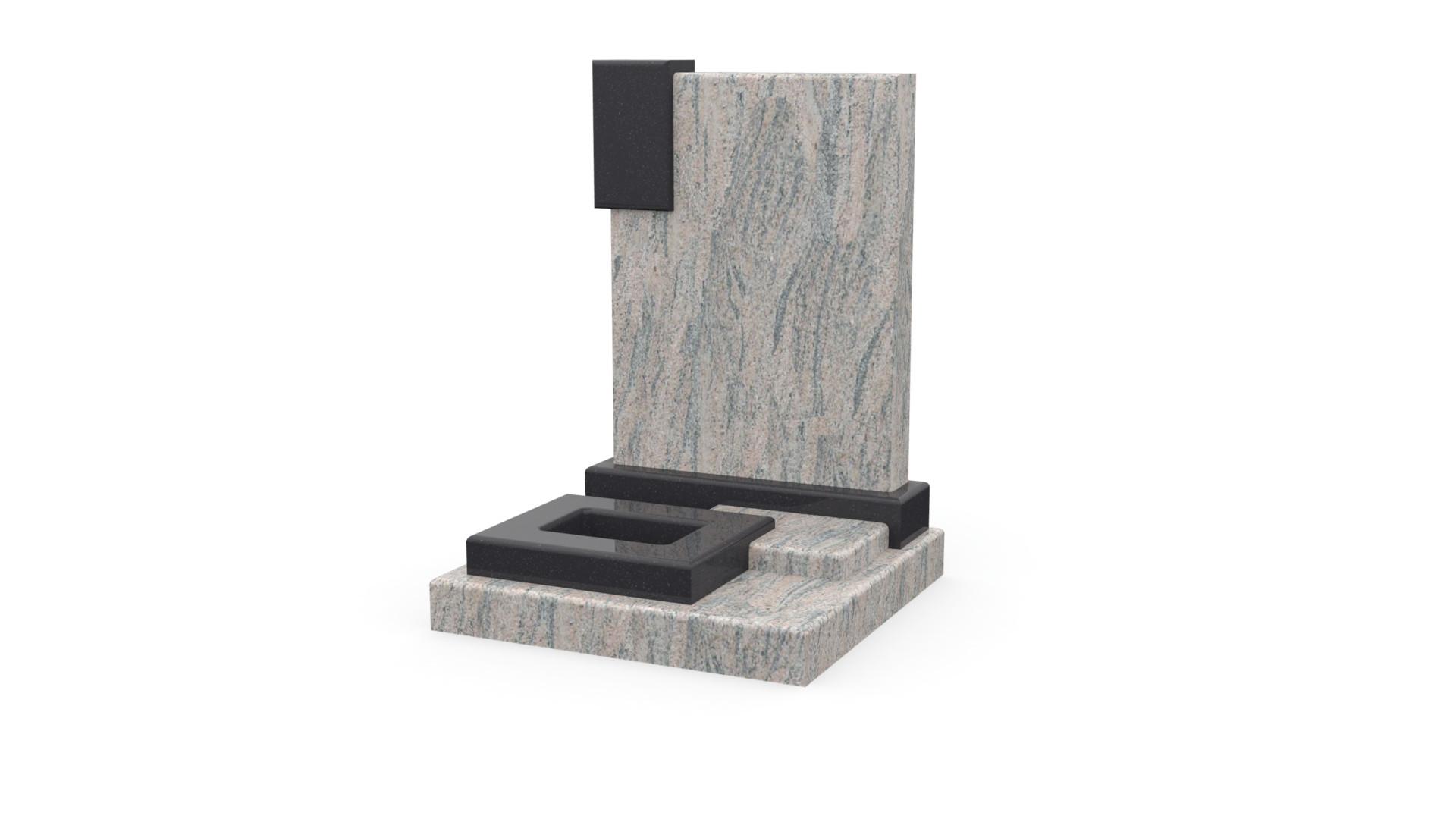 Monument pour urne Columbo-Juparana-et-noir-fin