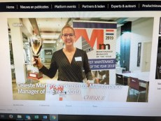 Celeste Martens Maintenance Manager of the Year 2019