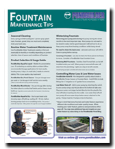 PBD Fountain Maintenance Tips