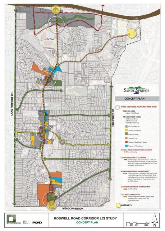 Roswell Road Corridor Study Sandy Springs Georgia 2