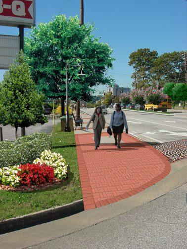 Virginia Avenue Pedestrian Improvement Livable Centers Initiative LCI Morrow Georgia 2