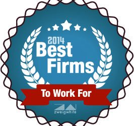 Pond Places #6 on ZweigWhite's 2014 Best Firms to Work For