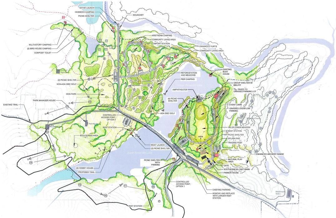 Panola Mountain State Park Master Plan sketch