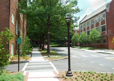 Ferst and Cherry Streetscape - Georgia Tech, Atlanta, GA