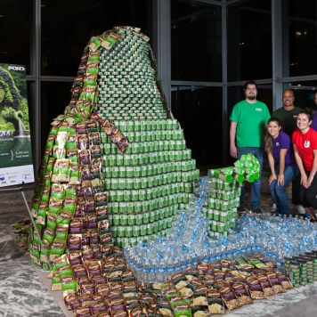 The Atlanta Canstruction team.