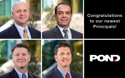 Pond celebrates company growth with promotions to Principal