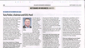 CEO, Tony Parker Honored by Atlanta Business Chronicle