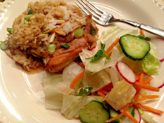 Asian Crockpot Chicken Plate