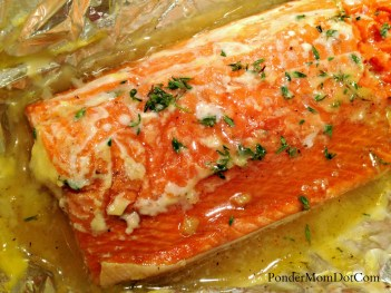 Glazed Salmon Cooked