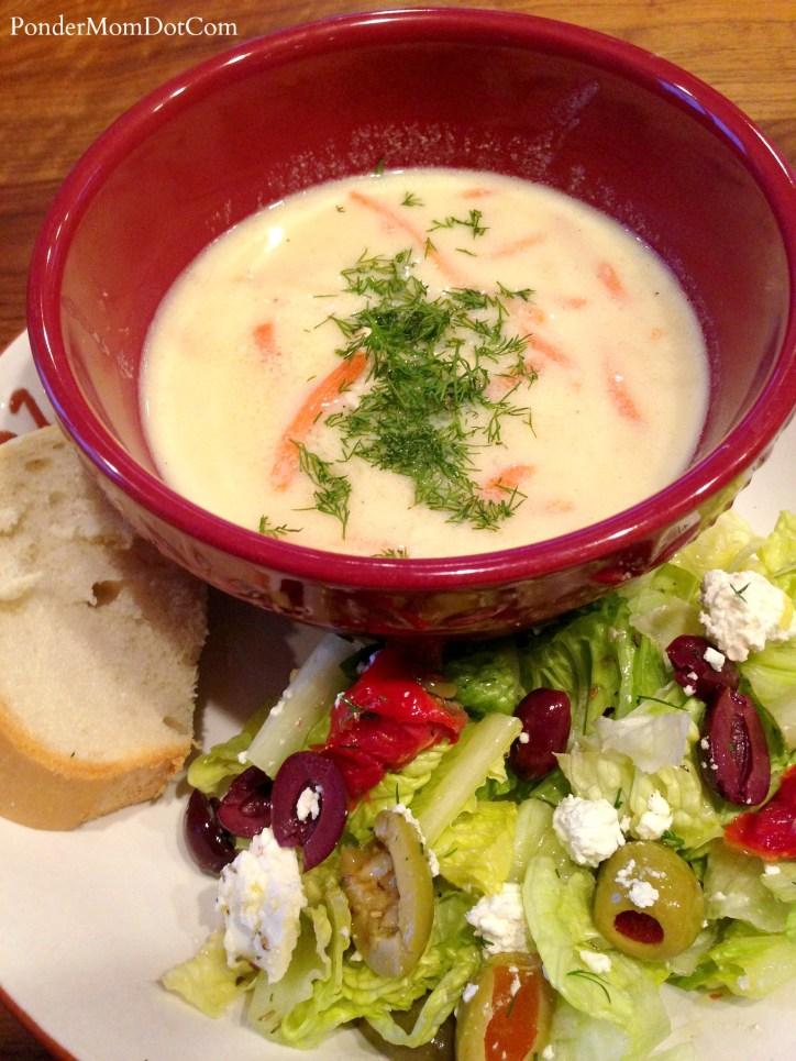 Healthy Greek Avgolemono Soup