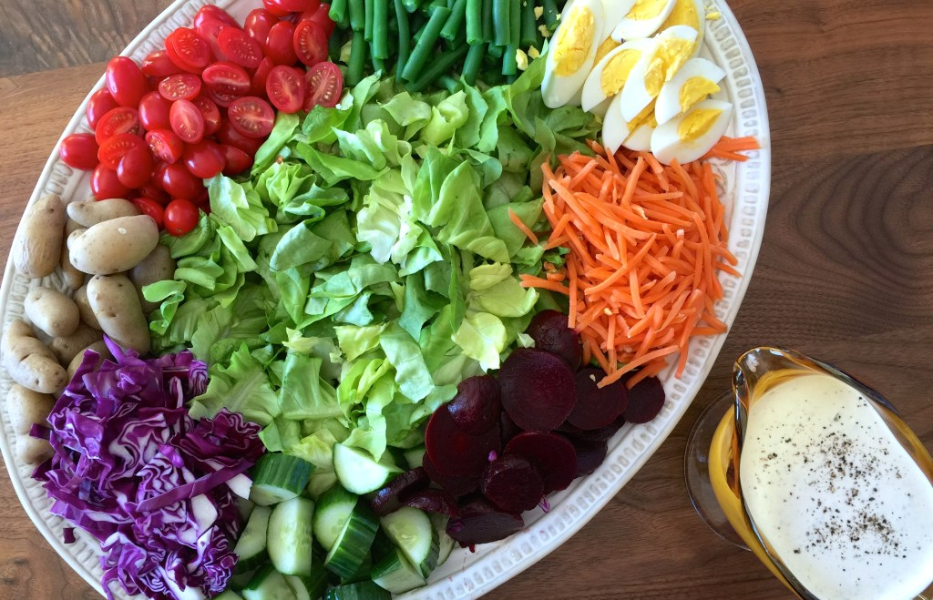 Christmas salad options: Irish Pub Salad