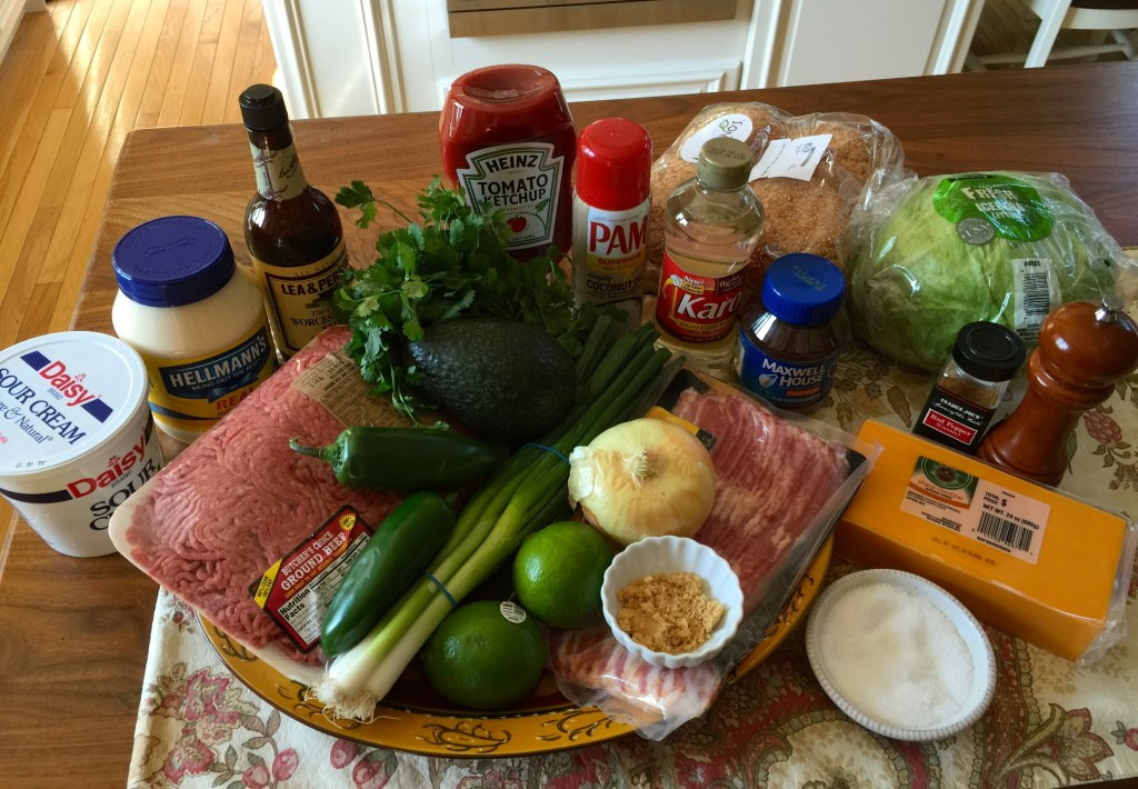 Grilling Season is Here: Jalapeño and bacon cheddar cheeseburger ingredients