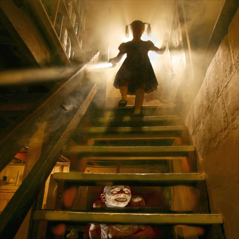 Ridiculous Fears: Basement stairs with open risers and zombies below