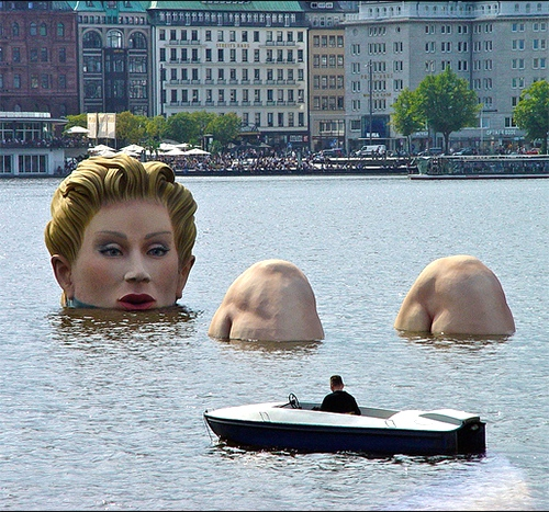 Ridiculous Fears: Gigantor Lady of the Lake statue