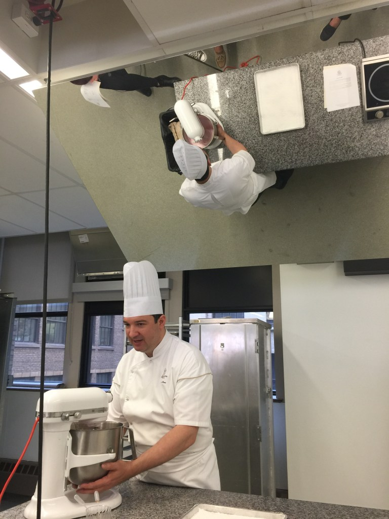 French Pastry School: Instructor demonstrating the steps.