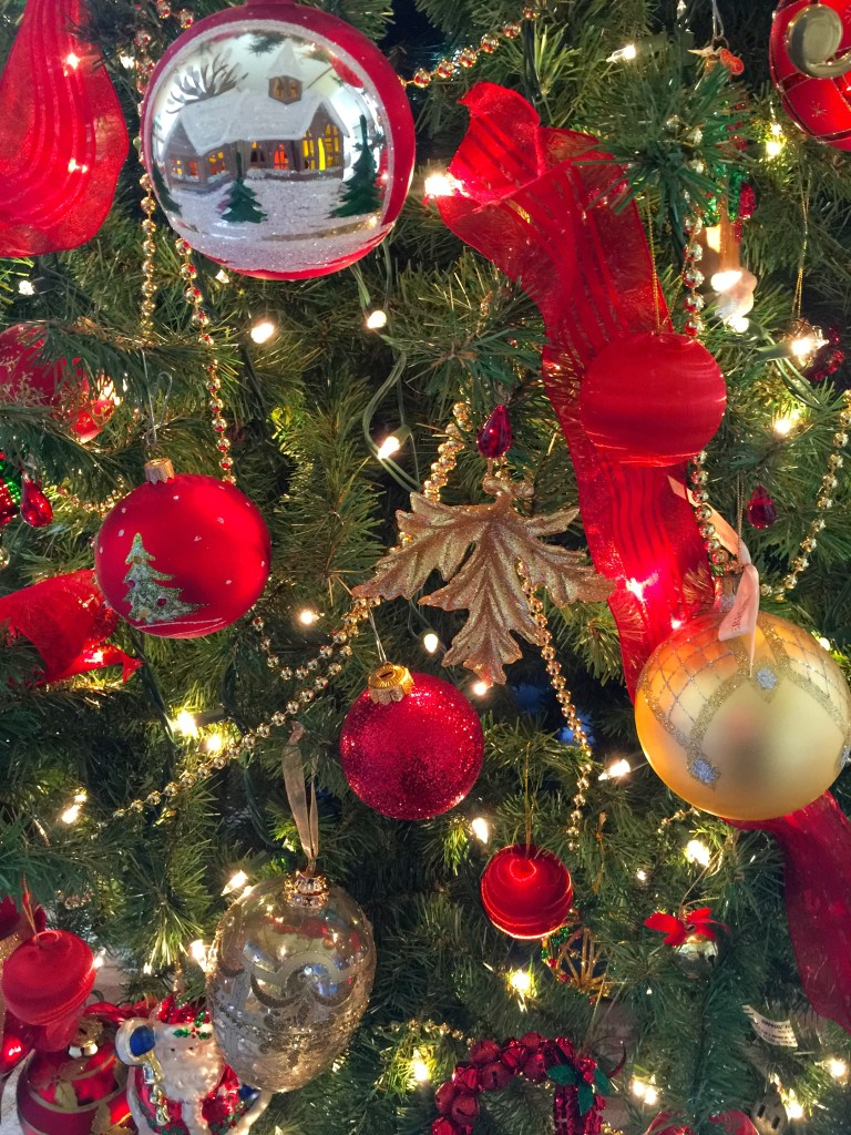 Decorating the Christmas Tree: Blown glass orbs take center stage