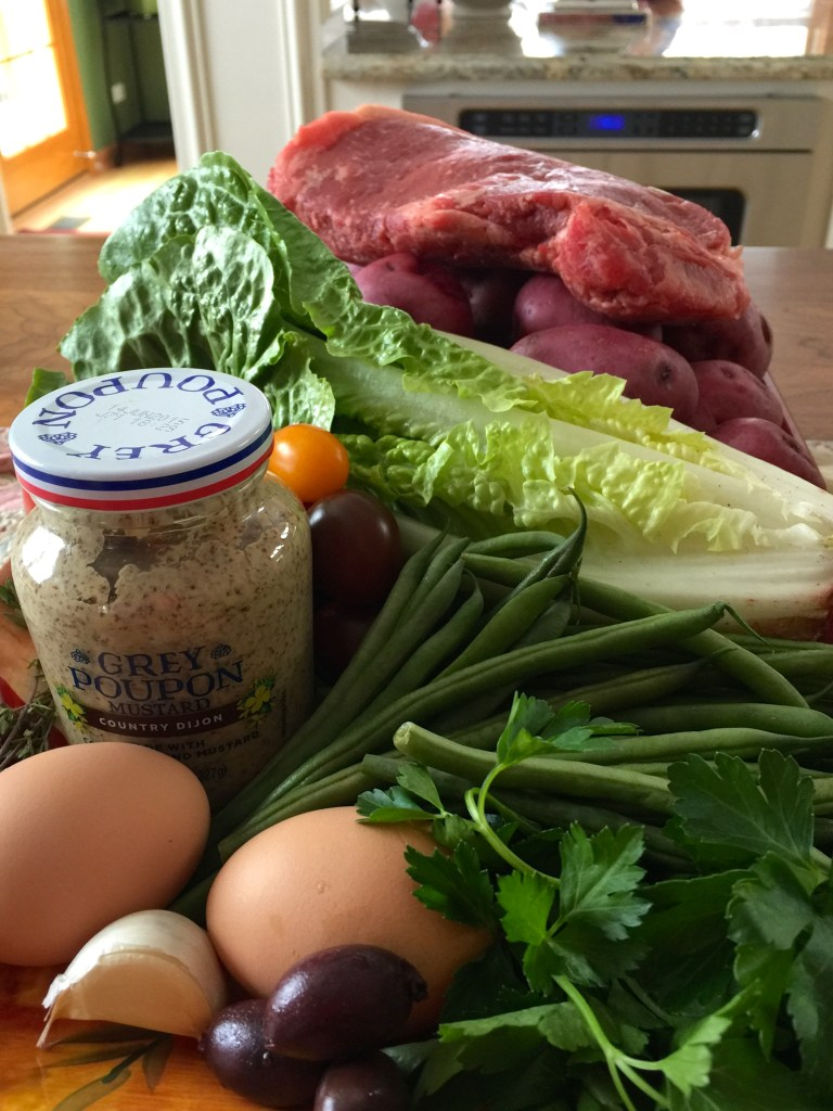 Steak salad Nicoise: Ingredients