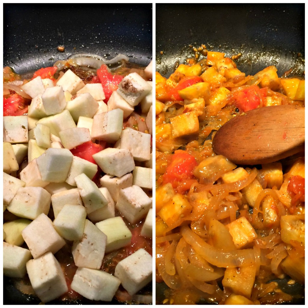 Spanish chicken and potatoes: Not done/Done