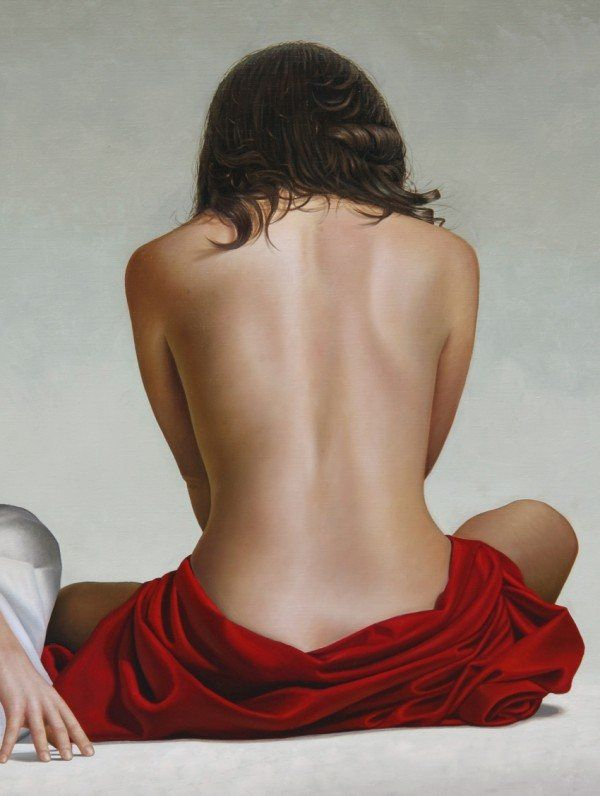 Back study Painting by Omar Ortiz