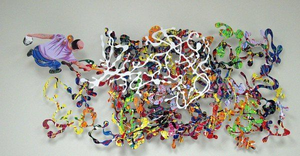 0024 Pollock 600x312 Unbelievable Metal Sculptures by David Kracov