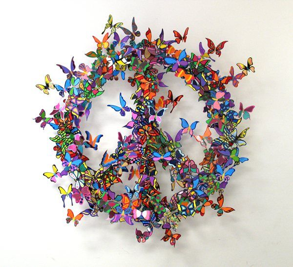 The Butterfly Effect Unbelievable Metal Sculptures by David Kracov