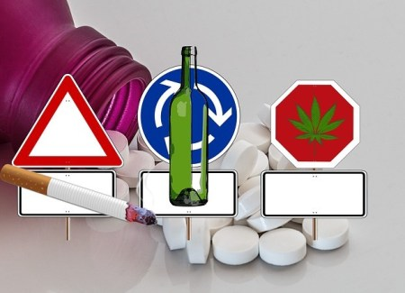 cigarette alcohol and marijuana sign
