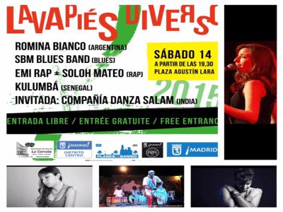 Lavapiés Diverso 2015   Cartel concierto 14/11/2015   Plaza de Agustín Lara   Lavapiés - Madrid