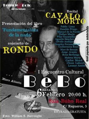1er Encuentro Cultural 'BeBo' | Benicio & Bolo | Sala Búho Real | Madrid | 06/02/2016 | Cartel António Benicio