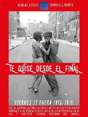Te quise desde el final   Despedida 'Diablos Azules'   Calle Apodaca 6 - Madrid   29/01/2016   Cartel José Naveiras García