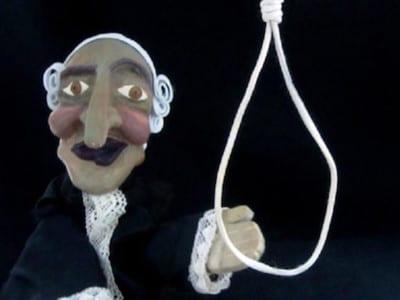 El juez y la horca | Escena de 'La bruja y don Cristobal' | Títeres desde abajo' | Compañía de guiñol de Granada