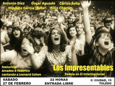 'Los Impresentables. Poesía en El Internacional' | Toledo | 27/02/2016 | Cartel