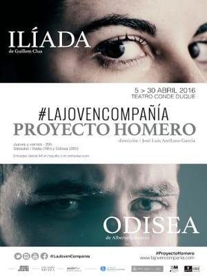 'Proyecto Homero: Ilíada - Odisea' | La Joven Compañía | Teatro del Conde Duque | Abril 2016 | Cartel