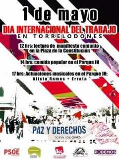 1º de Mayo de 2016 | PSOE, Izquierda Unida, Podemos, Confluencia Ciudadana y Agrupación Republicana | 'Paz y derecho' | Torrelodones | Comunidad de Madrid