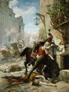 Malasaña y su hija batiéndose contra los franceses   1887   Eugenio Alvárez Dumont   Museo del Prado   Madrid - España