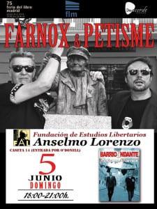 Farnox & Petisme   'BarrioAndante'   75ª Feria del Libro de Madrid   Parque de El Retiro   Madrid   Caseta 14   Fundación de Estudios Libertarios Anselmo Lorenzo   05/06/2016