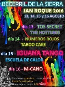 Fiestas de San Roque 2016 | Becerril de la Sierra | Comunidad de Madrid | 13, 14, 15 y 16 de agosto de 2016 | Cartel