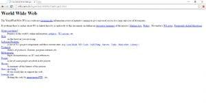 The Project   World Wide Web   Primera página web del planeta   1991   Pantallazo