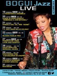 Bogui Jazz   Conciertos octubre 2016   Cartel Deborah Carter