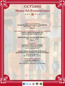 Museo del Romanticismo   Madrid   Programa de actividades   Octubre 2016   2
