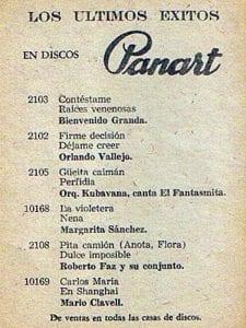 En esto llegó Fidel, se acabó la diversión   Publicidad de la disquera Panart   Cuba 1958
