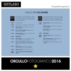 4º Día del Orgullo Fotográfico 'Too Many Flash'   Sábado 17 de diciembre de 2016   Chamberí - Madrid   Programa