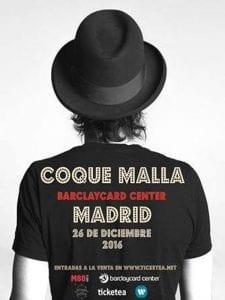 Coque Malla   Barclaycard Center   Madrid   26/12/2016   Cartel