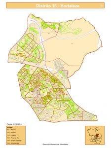 Plano 6 barrios distrito Hortaleza | Madrid | Fuente DGE del Ayuntamiento de Madrid