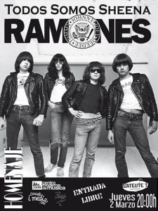'Todos somos Sheena' Homenaje a Ramones   'Bolo' García - Camiseta i-media   Sala Satélite T   Bilbao   Entrada libre   02/03/2017