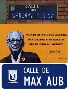 52 nombres franquistas que desaparecen del callejero madrileño   Calle de Max Aub