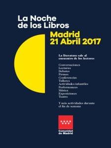 La Noche de los Libros 2017 | Comunidad de Madrid | 21 abril 2017 | Cartel