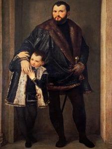 'El Renacimiento en Venecia' | Museo Thyssen-Bornemisza | El conde Iseppo da Porto con su hijo Adriano (detalle) | 1552 | Veroné (Paolo Caliari) | Florencia | Gallerie degli Ufizzi
