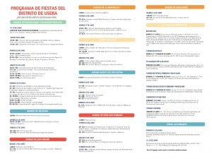 Fiestas de Usera 2017 | 16 al 25 de junio de 2017 | Usera - Madrid | Programación