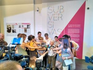 'Subversivas: 40 años de activismo LGTB en España'   CentroCentro Cibeles   Madrid   15/06 - 01/10/2017   Boti G. Rodrigo en la presentación
