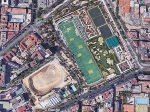 Estadio de Atletismo de Vallehermoso   Chamberí   Madrid   Vista satélite Google Maps   13/07/2017